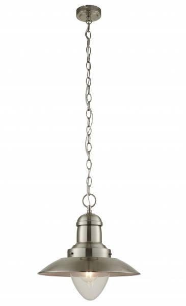 Lightbox dekorative Deckenleuchte im Retrostil, geeignet für LED Leuchtmittel, höhenverstellbar, 1x E27 max. 40W, Metall/Glas - Eisen