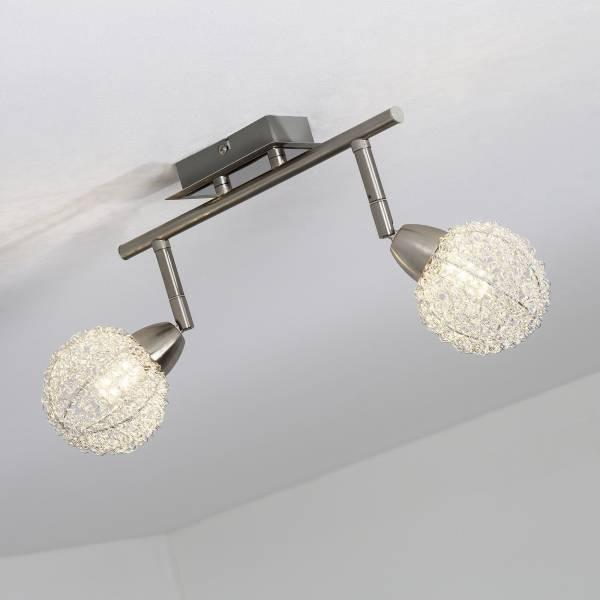 LED Spotrohr, 2-flammig, 2x 3.5W LED integriert, 2x 320 Lumen, 3000K, Metall, eisen