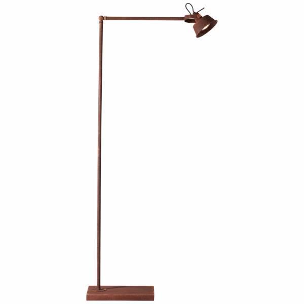 Standleuchte, 1-flammig, 1x GU10 max. 20W, Metall, rostfarbend LB00001400