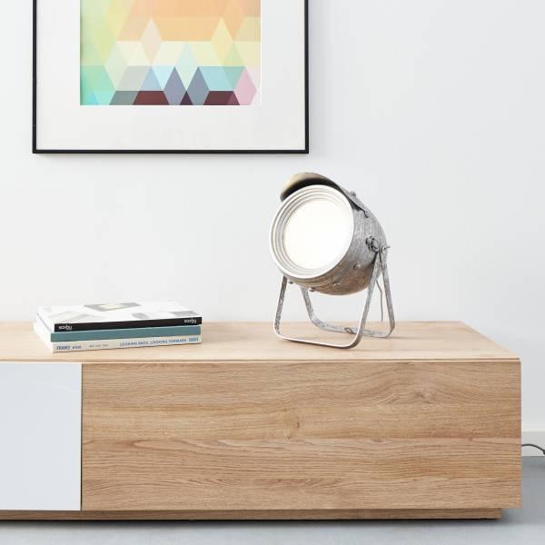 Tischleuchte 25cm, 1x E27 max. 60W, Metall / Glas, zink antik