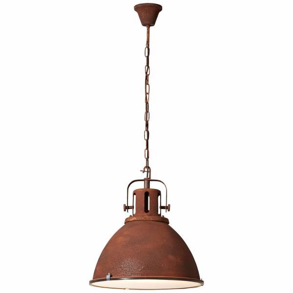 Pendelleuchte 47cm (Glas), 1x E27 max. 60W, Metall / Glas, rostfarbend