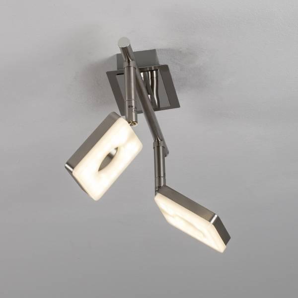 LED Spotrohr, 2-flammig, 2x 6W LED integriert, 2x 480 Lumen, 3000K, Metall / Kunststoff, eisen