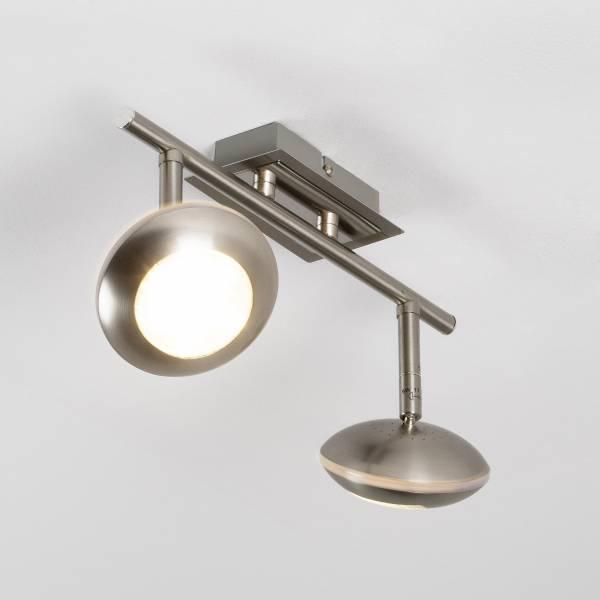 LED Spotrohr, 2-flammig, 2x 5W LED integriert, 2x 330 Lumen, 3000K, Metall, eisen