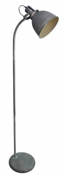Vintage Tischleuchte im Industry Design, 1x E27 max. 60W, Metall, grau Beton