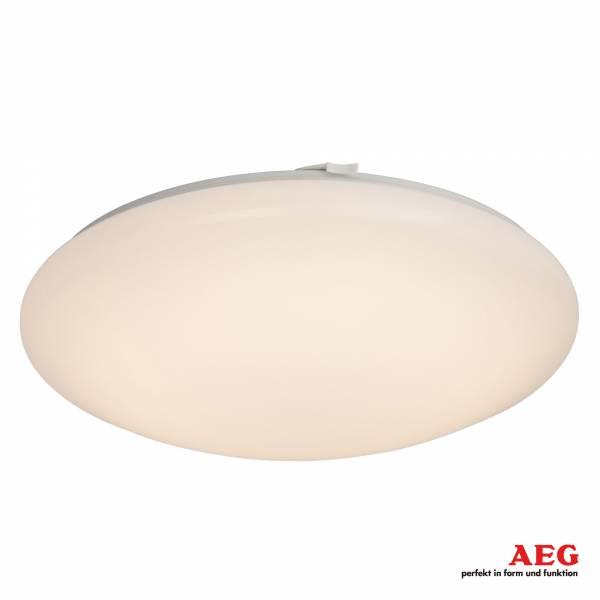 AEG 22W LED Deckenleuchte im schlichten Design, 1550 Lumen, 3000K warmweiß, Metall / Kunststoff, weiß