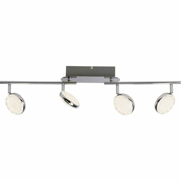 LED Spotrohr, 4-flammig, 4x 6W LED integriert, 4x 260 Lumen, 3000K, , Metall / Kunststoff, chrom