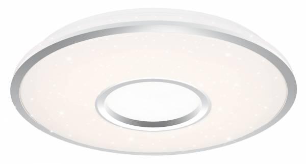 LED Wand- und Deckenleuchte 78cm XXL, 1x 80W LED integriert, 1x 6500 Lumen, 3000-6000K, , Metall / Kunststoff, weiß / silber