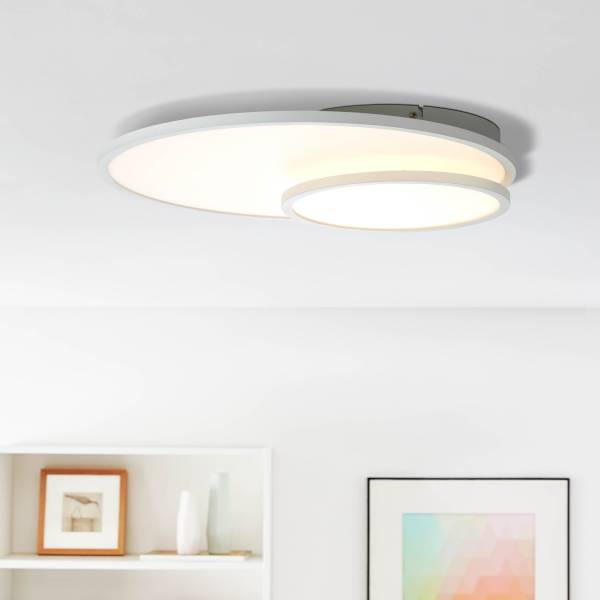 LED Panel Deckenleuchte, 61x45cm, 1x 36W LED integriert, 1x 3960 Lumen, 3000 Kelvin, Metall / Kunststoff, weiß