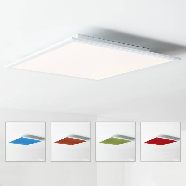 led panel deckenleuchte 60x60cm 1x 40w led integriert 1x 4000 lumen 2700 6500k metall. Black Bedroom Furniture Sets. Home Design Ideas