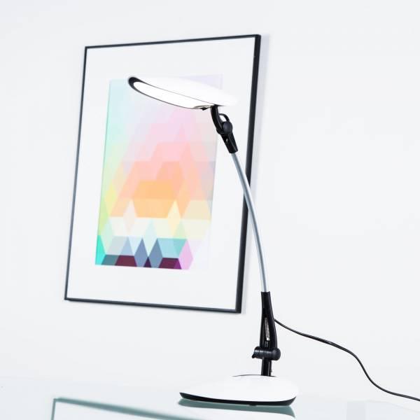 Moderne LED 9W Schreibtischleuchte, 560 Lumen, 4000K, Metall / Kunststoff, schwarz / weiß