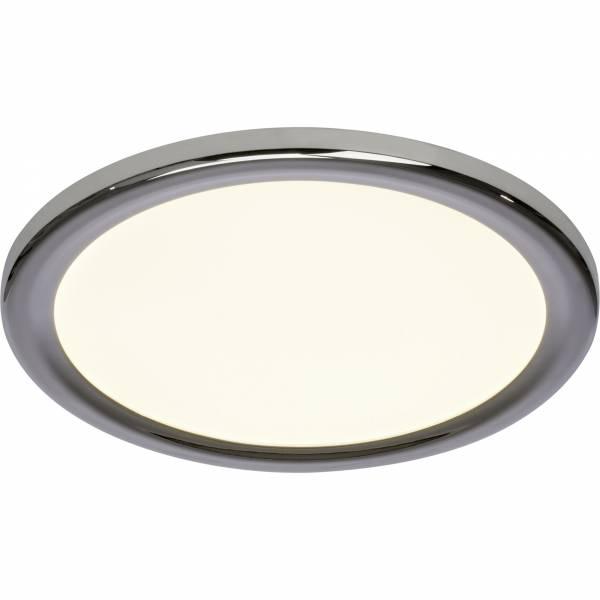 LED Wand- und Deckenleuchte, 1x 22W LED integriert, 1x 1740 Lumen, 3000K, , Metall / Kunststoff, chrom