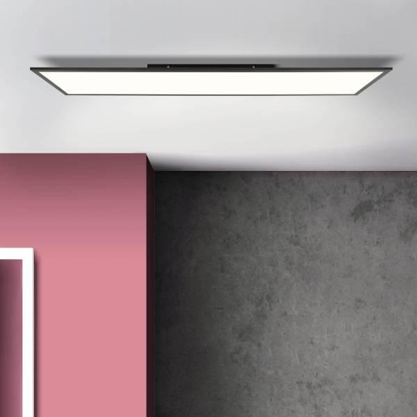 LED Deckenaufbau-Paneel 120x30cm, 40 Watt, 4000 Kelvin; Metall / Kunststoff, Schwarz / Weiß