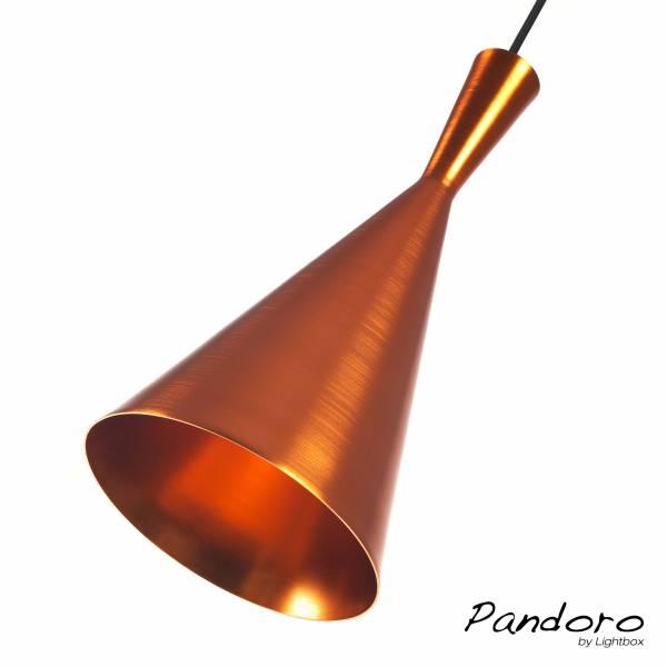 Pandoro Pendelleuchte im modernen Design, 1x E27 max. 40W, Kupfer, Metall, kupfer