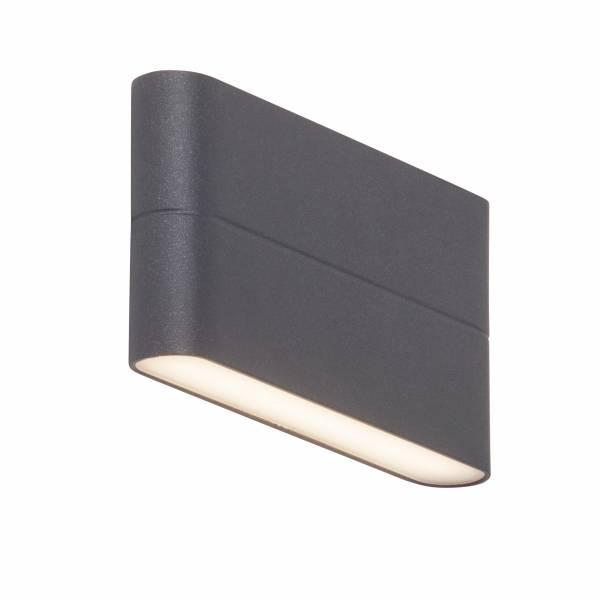 LED Außenwandstrahler, 2-flammig, 2x 6W LED integriert, 2x 475 Lumen, 3000K, , Aluminium / Kunststoff, anthrazit