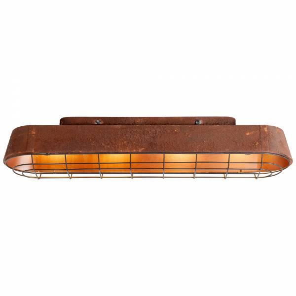 Deckenleuchte, 4-flammig, 4x E27 max. 60W, , Metall, rostfarbend