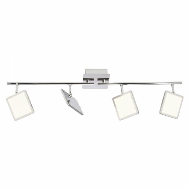 LED Spotrohr, 4-flammig, drehbar, 4x 5W LED integriert, 4x 500 Lumen, 3000K, , Metall / Kunststoff, chrom