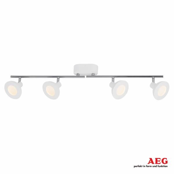 AEG LED Spotrohr, 4-flammig, drehbar, 4x 5W LED integriert, 4x 500 Lumen, 3000K, , Aluminium / Kunststoff, weiß / chrom