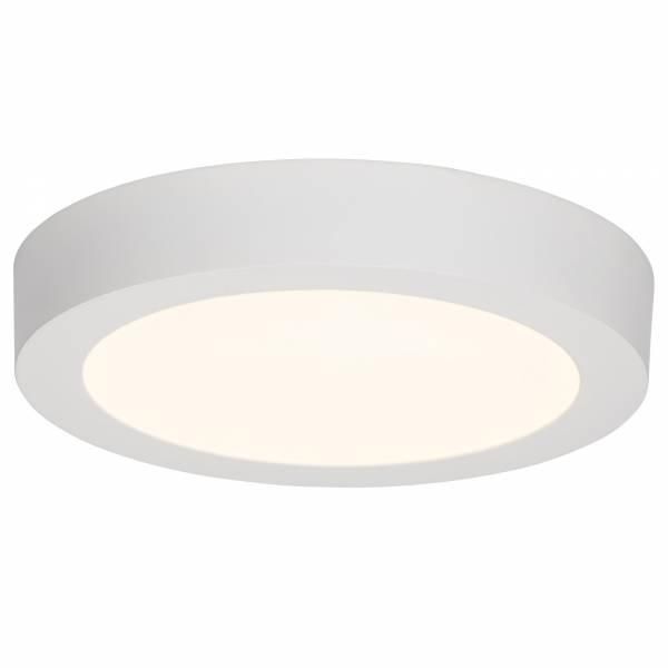Moderne 18W LED Deckenleuchte im schlichten Design rund, 1.620 Lumen, 3000K, Ø 22,5cm, Metall / Kunststoff, weiß