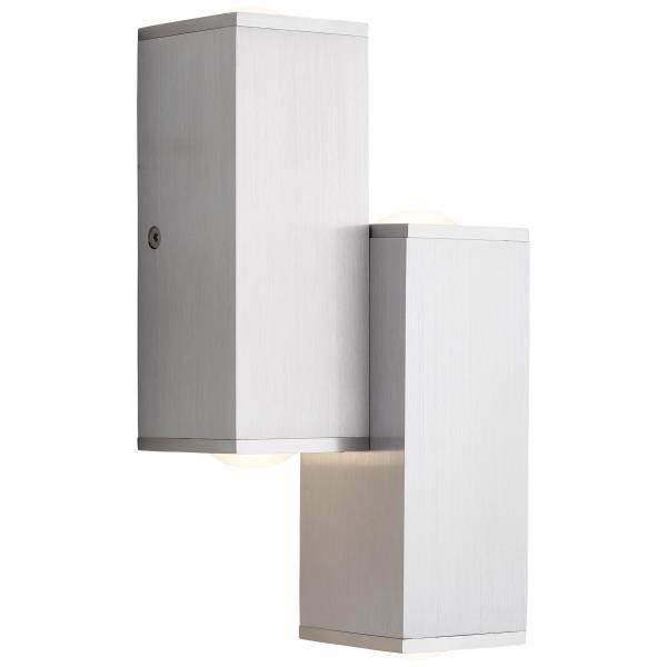 LED Wandleuchte, 4-flammig, 4x 2.8W LED integriert, 4x 290 Lumen, 3000K, , Aluminium / Kunststoff, alu