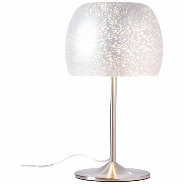 Tischleuchte, 1x E27 max. 10W, , Metall / Glas, silber