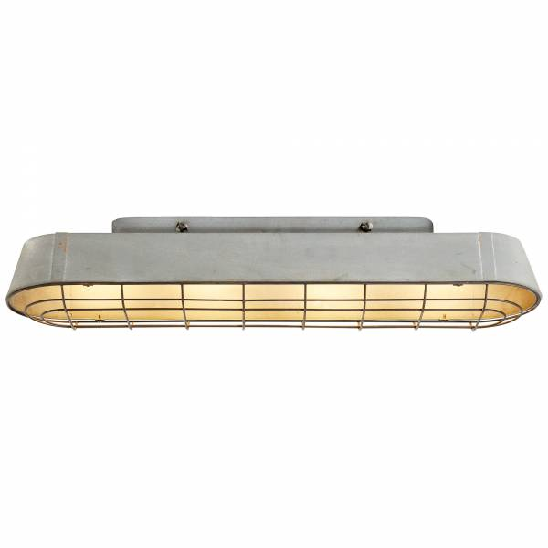 Deckenleuchte, 4-flammig, 4x E27 max. 60W, , Metall, grau Beton