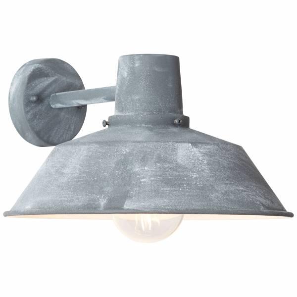 Außenwandleuchte, hängend, 1x E27 max. 60W, Metall / Glas, grau Beton LB00001396