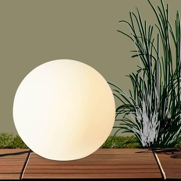 Lightbox hochwertige außen-Lichtkugel Ø80cm, 1x E27 max. 60 Watt, Kunststoff, weiß