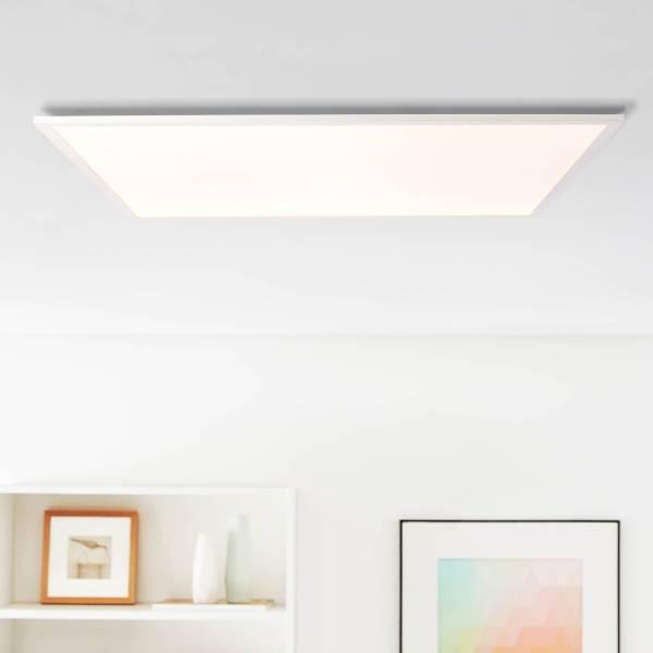 Lightbox LED Panel Aufbaupaneel Deckenlampe flächiges Licht 75x75cm kaltweißes Licht 45W, 5850lm Metall/Kunststoff, weiß