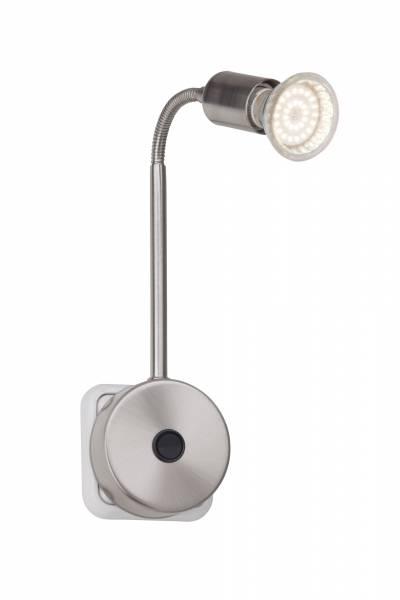 LED Steckerspot, 1x 2.5W GU10 LED Reflektor inkl., 1x 250 Lumen, 3000K warmweiß, Metall, eisen