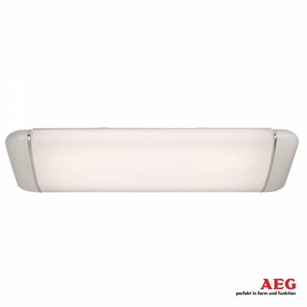 AEG 20W LED Deckenleuchte mit Zierring aus Metall, 1500 Lumen, 4000K Tageslichtweiß, Aluminium / Kunststoff, weiß