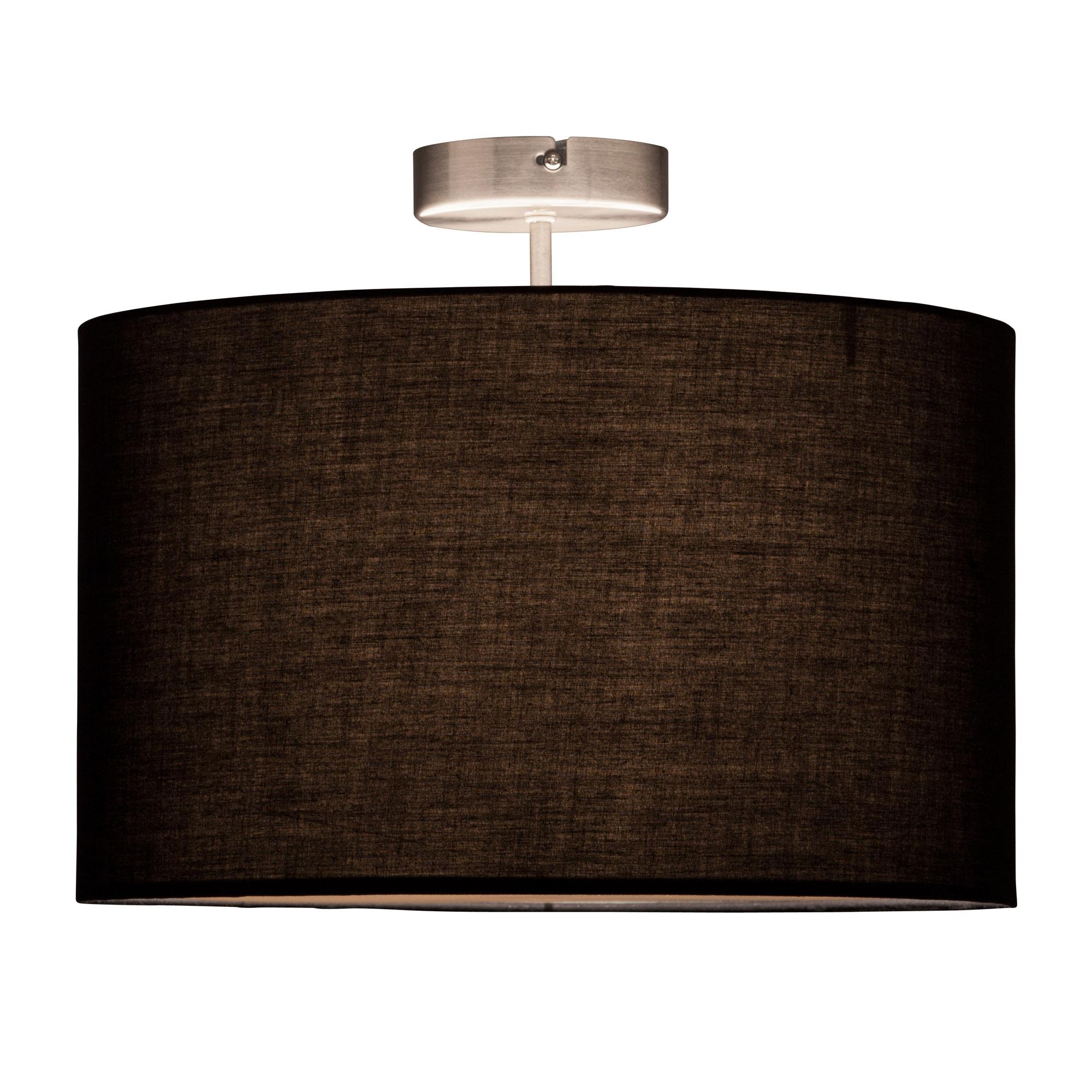 deckenleuchte 1x e27 max 60w metall textil eisen schwarz lightbox leuchten onlineshop. Black Bedroom Furniture Sets. Home Design Ideas