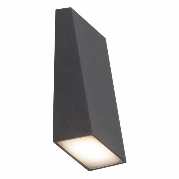LED Außenwandstrahler, 1-flammig, 1x 3W LED integriert, 1x 250 Lumen, 3000K, , Aluminium / Kunststoff, anthrazit