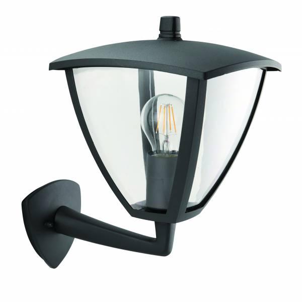 Lightbox Außenwandleuchte, für LED Leuchtmittel geeignet, 1x E27 max. 40W, Metall/Kunststoff - Anthrazit