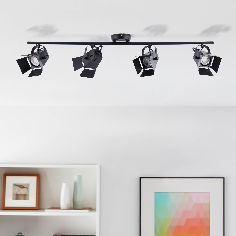 Dimmbare LED Strahler schwenkbare Wandspots /& Deckenspots aus Metall schwarz