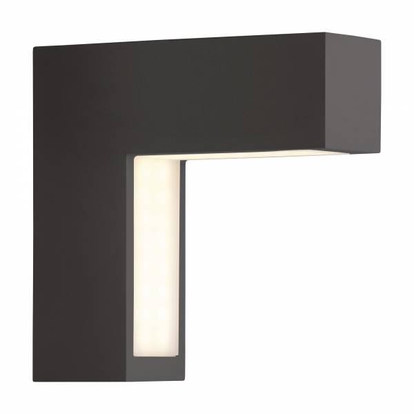 Moderne LED Außenwandleuchte, IP54, 4,3W LED integriert, 250 Lumen, Metall / Kunststoff, schwarz