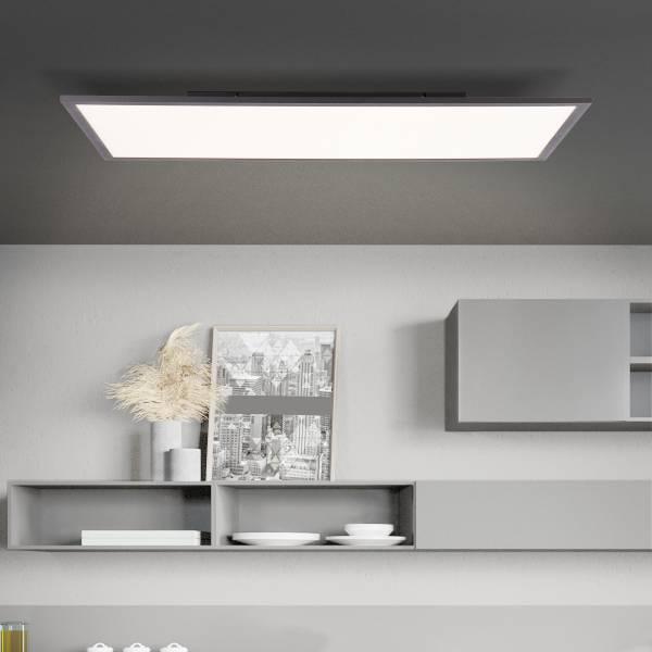 Lightbox LED Deckenpaneel, stufenlos dimmbar, Warmweiß bis Tageslichtweiß, Memoryfunktion über Wandschalter möglich, 36W