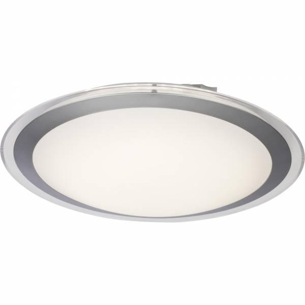 LED Wand- und Deckenleuchte, 1x 20W LED integriert, 1x 1465 Lumen, 3000K, , Kunststoff / Metall, weiß / silber