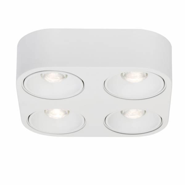LED Wand- und Deckenleuchte, 4-flammig, 4x 9W LED integriert (COB-Chip), 4x 850 Lumen, 3000K, , Aluminium-Druckguss, weiß
