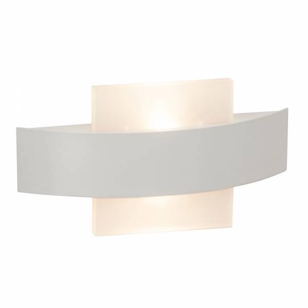 Moderne LED Wandleuchte, 2x 3,5W, 2x 380 Lumen 3000K warmweiß, Metall / Kunststoff, weiß