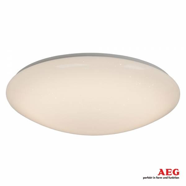 LED 20W Deckenleuchte mit Fernbedienung, Sterneneffekt, Ø 38cm, 1200 Lumen, Lichtfarbe 3000-6000K, Aluminium / Kunststoff, weiß / transparent