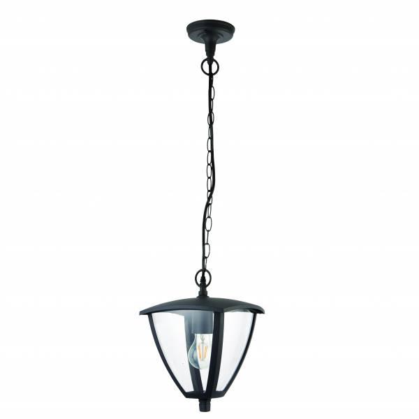 Lightbox Außenleuchte, für LED Leuchtmittel geeignet, spritzwassergeschützt nach IP 44, 1x E27 max. 40W, Metall/Kunststoff - Anthrazit