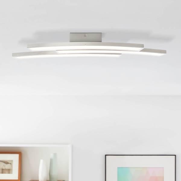 LED Wand- und Deckenleuchte, 3-flammig, 3x 9W LED integriert, 3x 700 Lumen, 3000K, Metall / Kunststoff, nickel matt