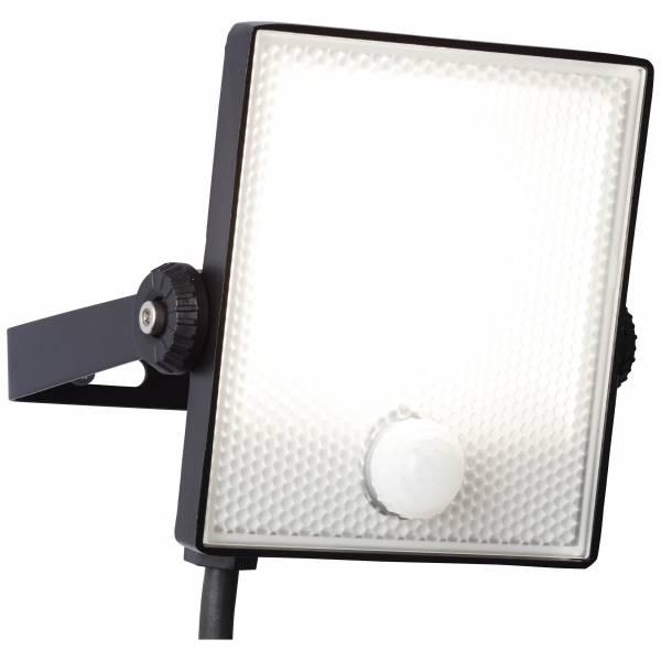 LED Außenwandstrahler 13cm mit Bewegungsmelder, 1x 10W LED integriert, 1x 800 Lumen, 4000K, , Metall / Kunststoff, schwarz