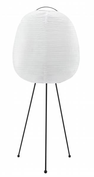 Standleuchte, dreibeinig, 1x E27 max. 40W, Metall / Reispapier, weiß / schwarz