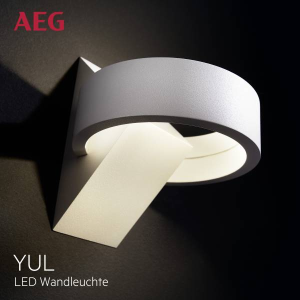 AEG LED Wandleuchte, 1x 6W LED integriert (COB-Chip)