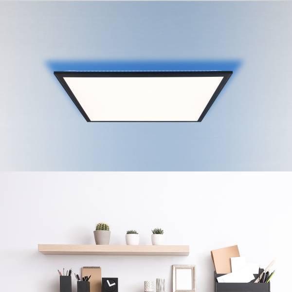 LED Deckenaufbau-Paneel 60x60cm, 1x 39W LED integriert, 1x 4072 Lumen, 2700-6500K, Metall / Kunststoff, schwarz / weiß