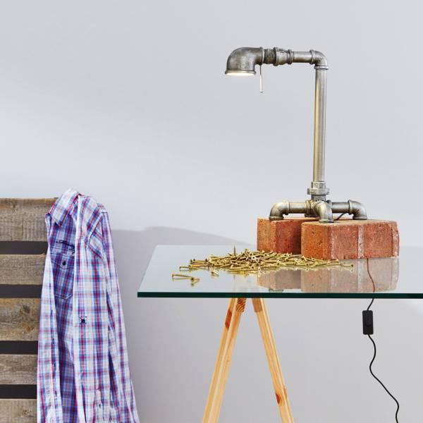 LED 7W Tischleuchte im Vintage Style, 400 Lumen, 3000K warmweiß, Metall, eisen