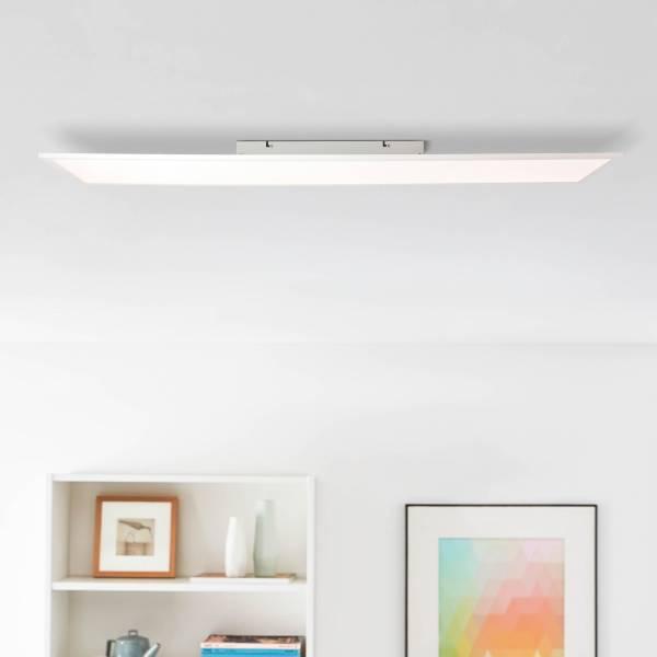 LED Panel Deckenleuchte 120x30cm in weiß, 40 Watt, 5200 Lumen, 4000 Kelvin, Metall / Kunststoff, weiß / kaltweiß