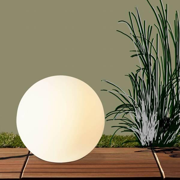 Lightbox hochwertige außen-Lichtkugel Ø60cm, 1x E27 max. 60W, Kunststoff, weiß